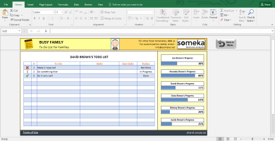 Family To Do List - Printable Checklist Template In Excel - SS4 - Someka