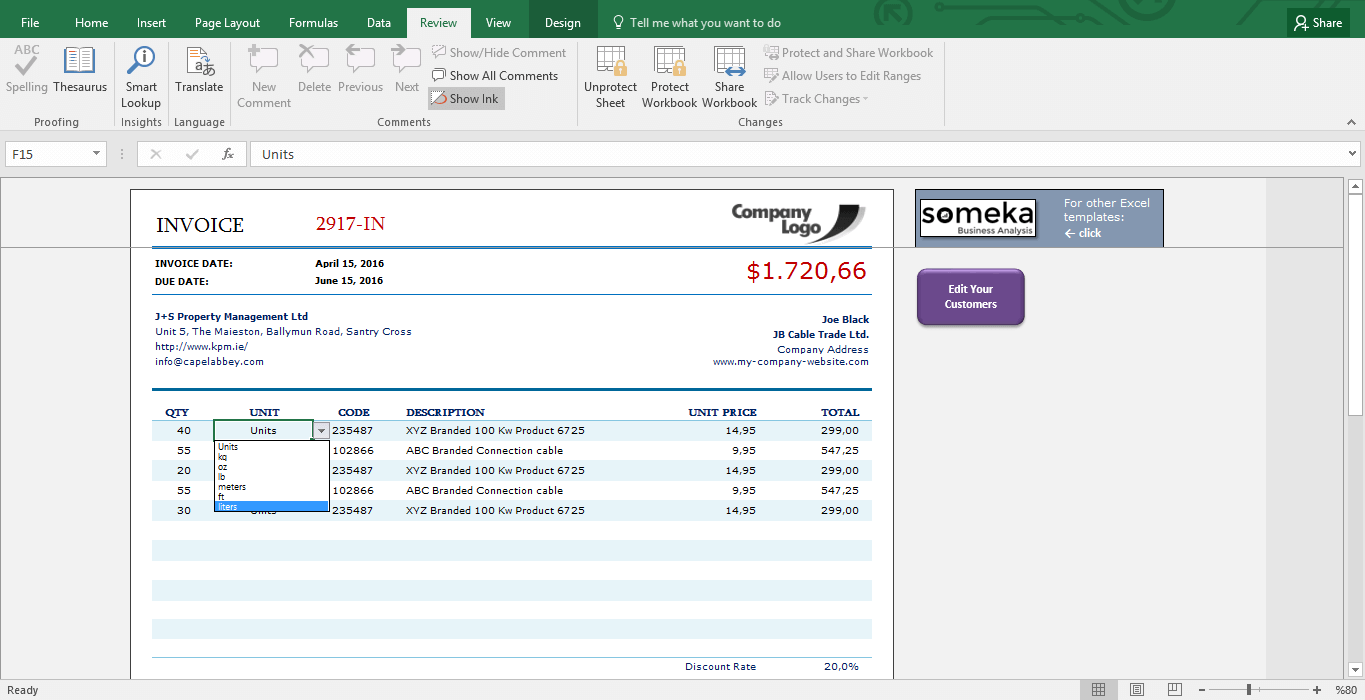Excel Invoice Template Small Business Invoicing In Excel