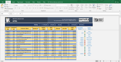 Invoice Tracker - Free Excel Template For Small Business - Template Screenshot Image 2 - Someka