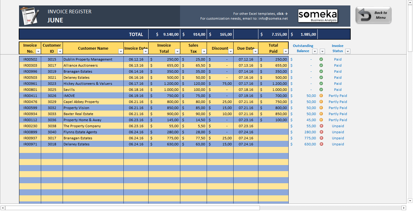 templates for invoices free excel