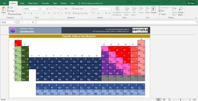 Periodic Table Worksheet - Printable Excel Template - Template Screenshot Image 1 - Someka