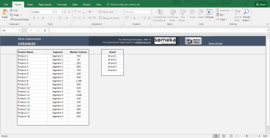 Price Comparison Excel Template 2