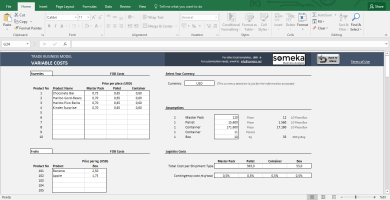 Trade Business Model Excel Template 2