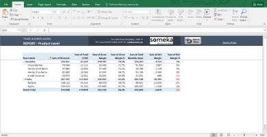 Trade Business Model - Feasibility Study Template In Excel - Template Screenshot Image 8 - Someka