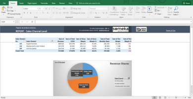 Trade Business Model - Feasibility Study Template In Excel - Template Screenshot Image 9 - Someka