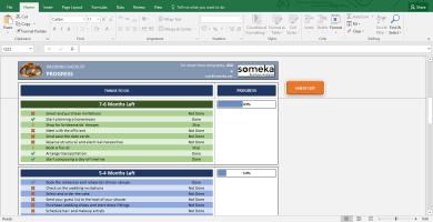 Wedding Checklist - Excel Template For Wedding Planning - Template Screenshot Image 2 - Someka