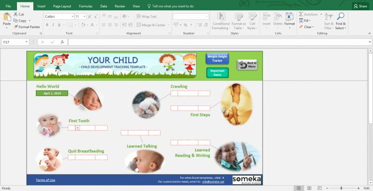 Child Development Tracker - BMI Calculator for Kids - Template Screenshot Image 3 - Someka