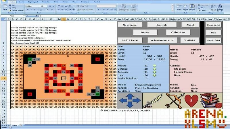 microsoft excel game