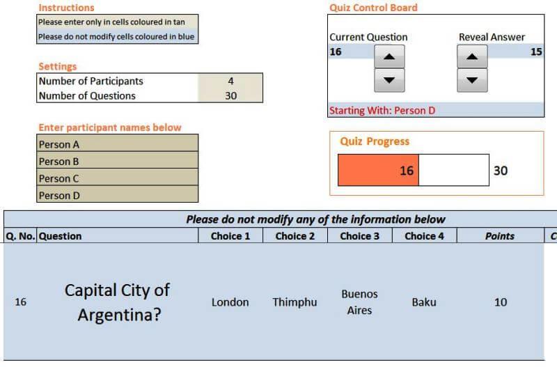 21 Indzara Excel Quiz Master - Someka Blog