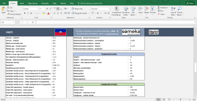 North American Countries - Free Info List In Excel - Template Screenshot Image 5 - Someka