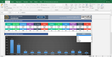 Activity Tracker - Printable Excel Template For Personal Plans - Template Screenshot Image 3 - Someka