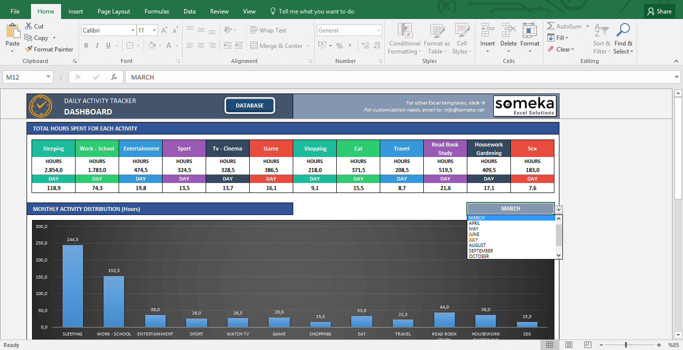 expense tracker template for excel