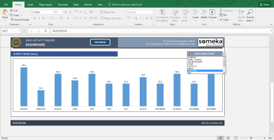 Activity Tracker - Printable Excel Template For Personal Plans - Template Screenshot Image 4 - Someka