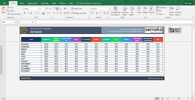 Activity Tracker - Printable Excel Template For Personal Plans - Template Screenshot Image 5 - Someka