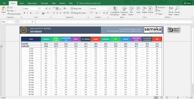 Activity Tracker - Printable Excel Template For Personal Plans - Template Screenshot Image 6 - Someka