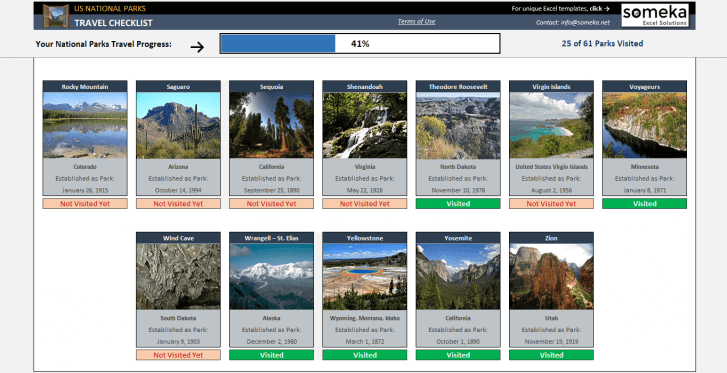 US-National-Park-Excel Template-SS4-1