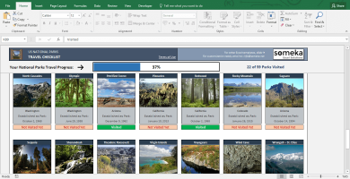 Printable List Of National Parks - Free Excel Template - Template Screenshot Image 3 - Someka