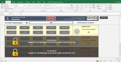 Excel Test - Interactive Excel Training With Questions - Template Screenshot Image 1 - Someka