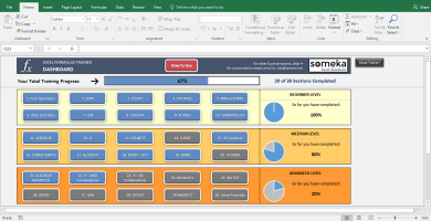 Excel Test - Interactive Excel Training with Questions - Template Screenshot Image 5 - Someka