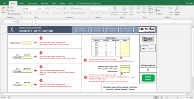 Excel Test - Interactive Excel Training With Questions - Template Screenshot Image 6 - Someka