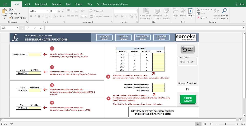 Excel Formulas Training Kit   Trial Version