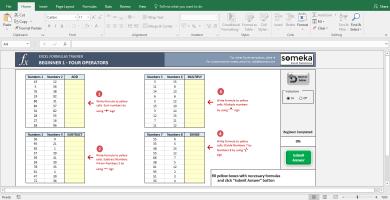 Excel Formulas Trainer Excel Template 2