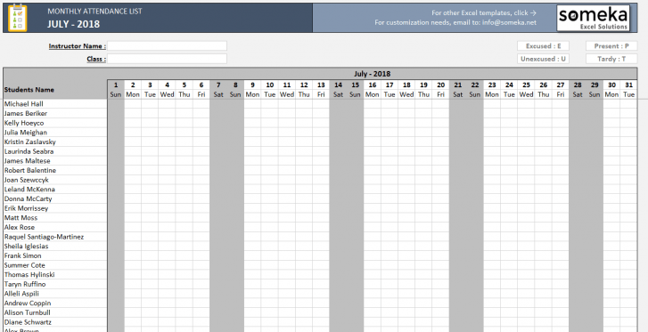 Monthly-Attendance-List-Excel-Template-2018-SS2