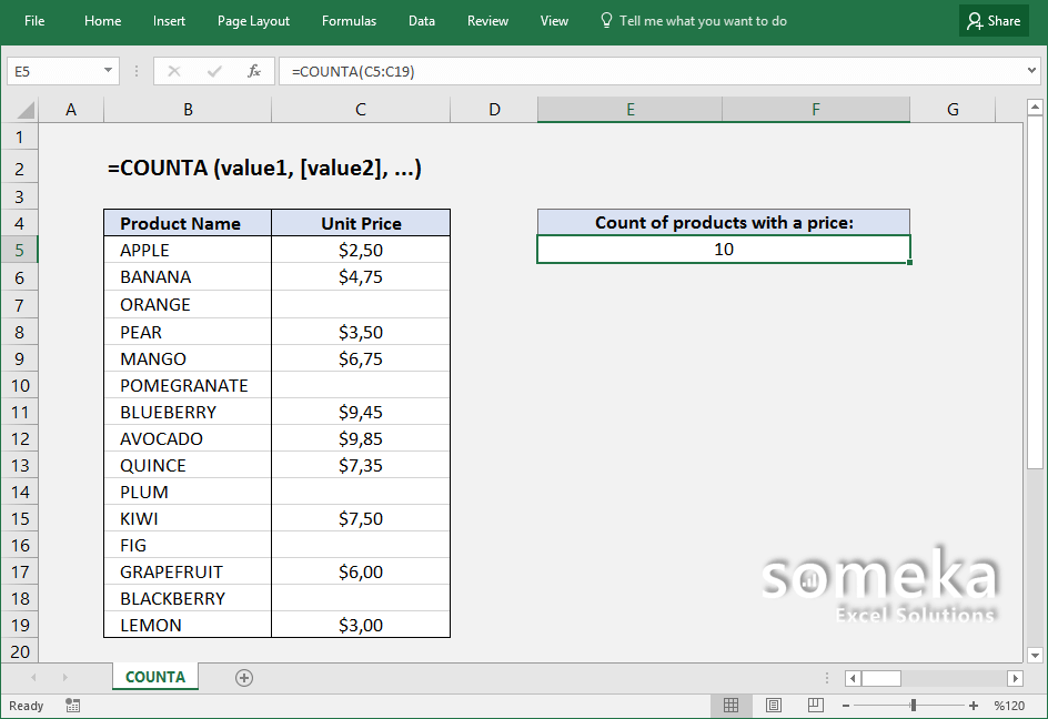 how-to-use-excel-COUNTA-function