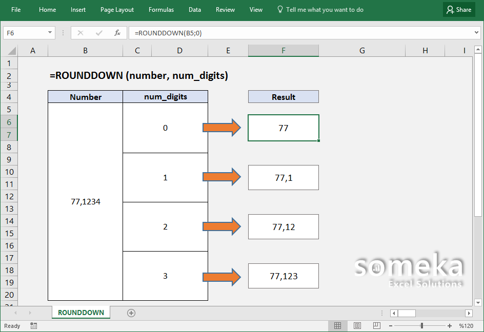 how-to-use-excel-ROUNDDOWN-function