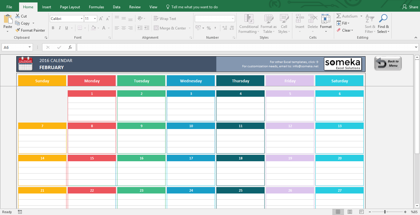 Monthly Calendar In Excel Format : Excel calendar templates download free printable