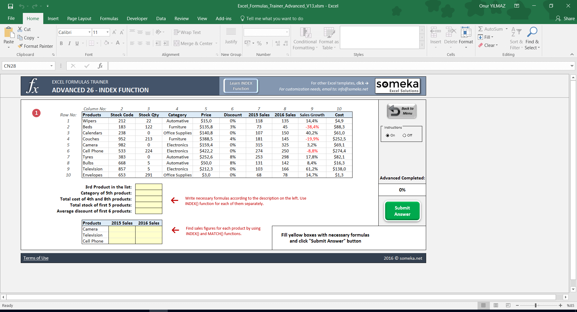 Excel Timesheet Formula Template