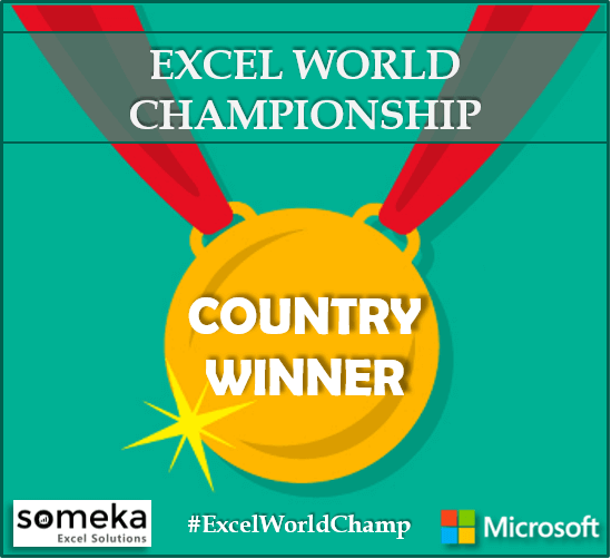 Excel World Championship Turkey Winner