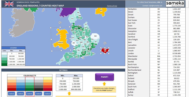 Heat Map Excel mushroom map gmail maps