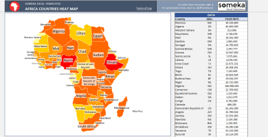 Africa Geographic Heat Map Generator