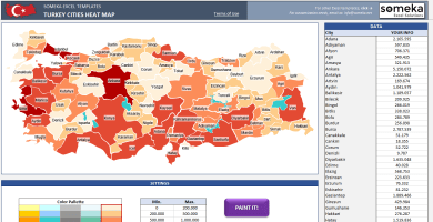 Turkey Geographic Heat Map Generator