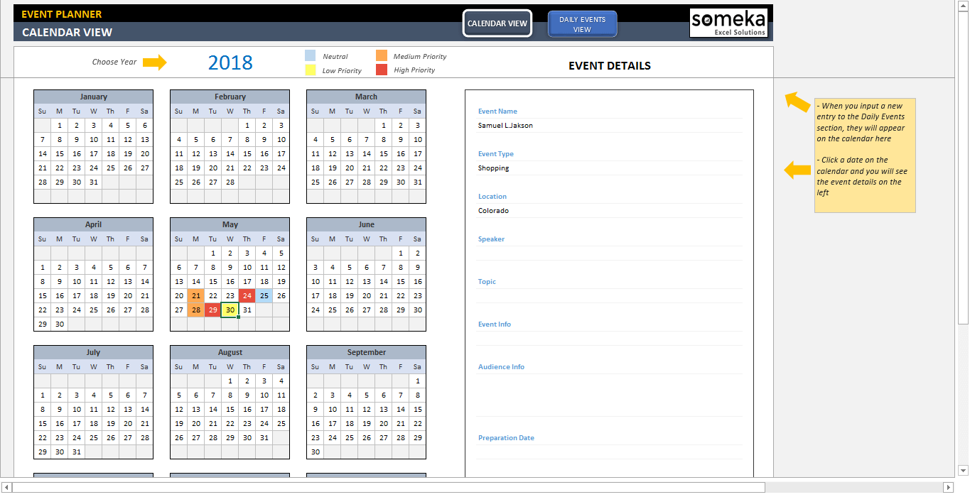 how to create an interactive calendar