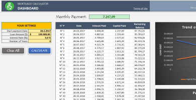 calculate monthly mortgage payment excel