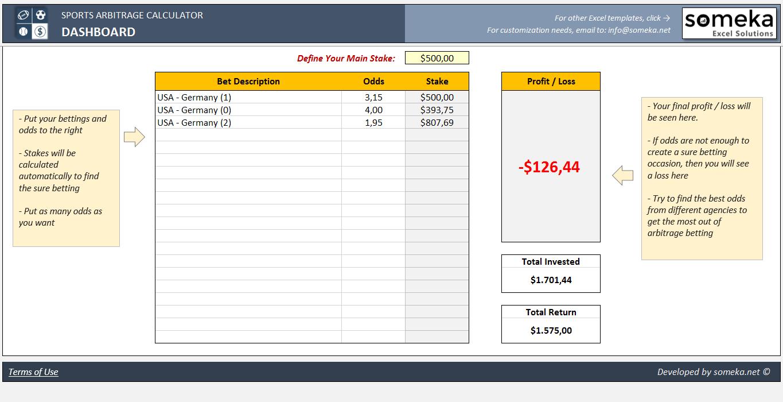 sports betting arbitrage spreadsheet free