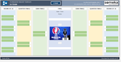 Tournament Bracket Excel Template – Someka Excel Solutions – SS2