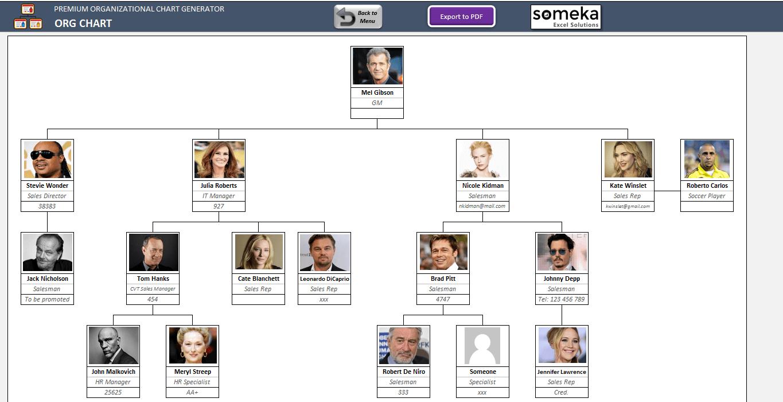 Premium Org Chart Generator SS3
