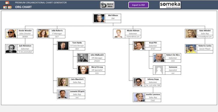 Premium Org Chart Generator SS4