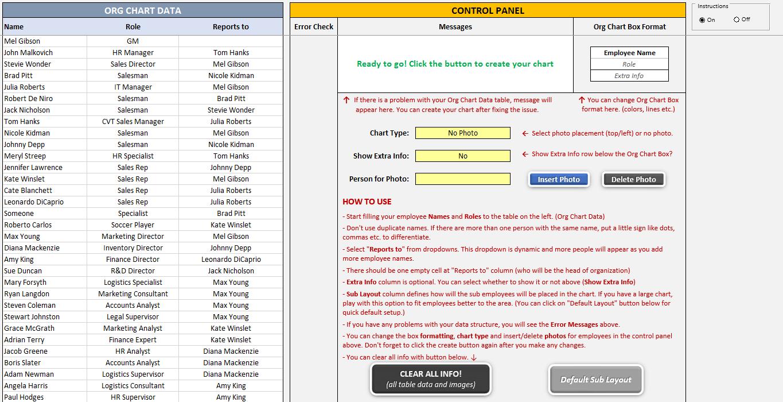 Premium Org Chart Generator SS7