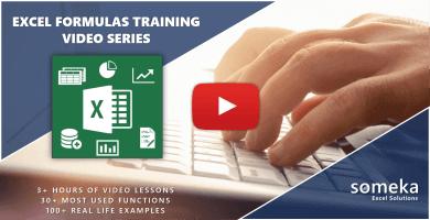 Excel Formulas Training Video Series - Someka
