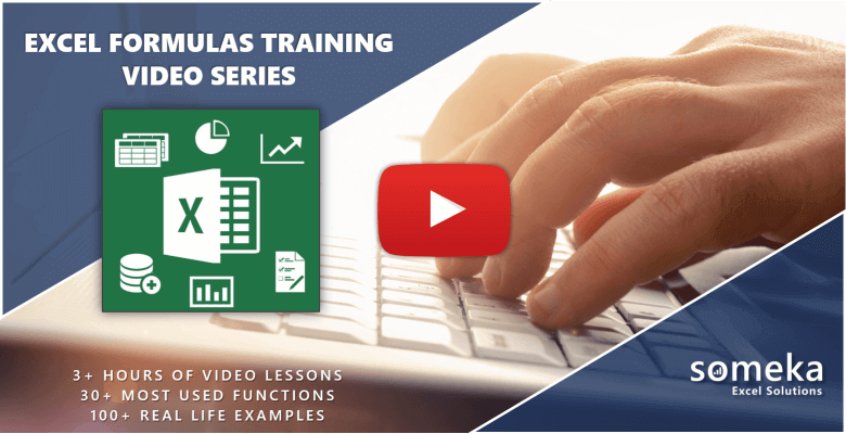 Excel Formulas Training Video Series
