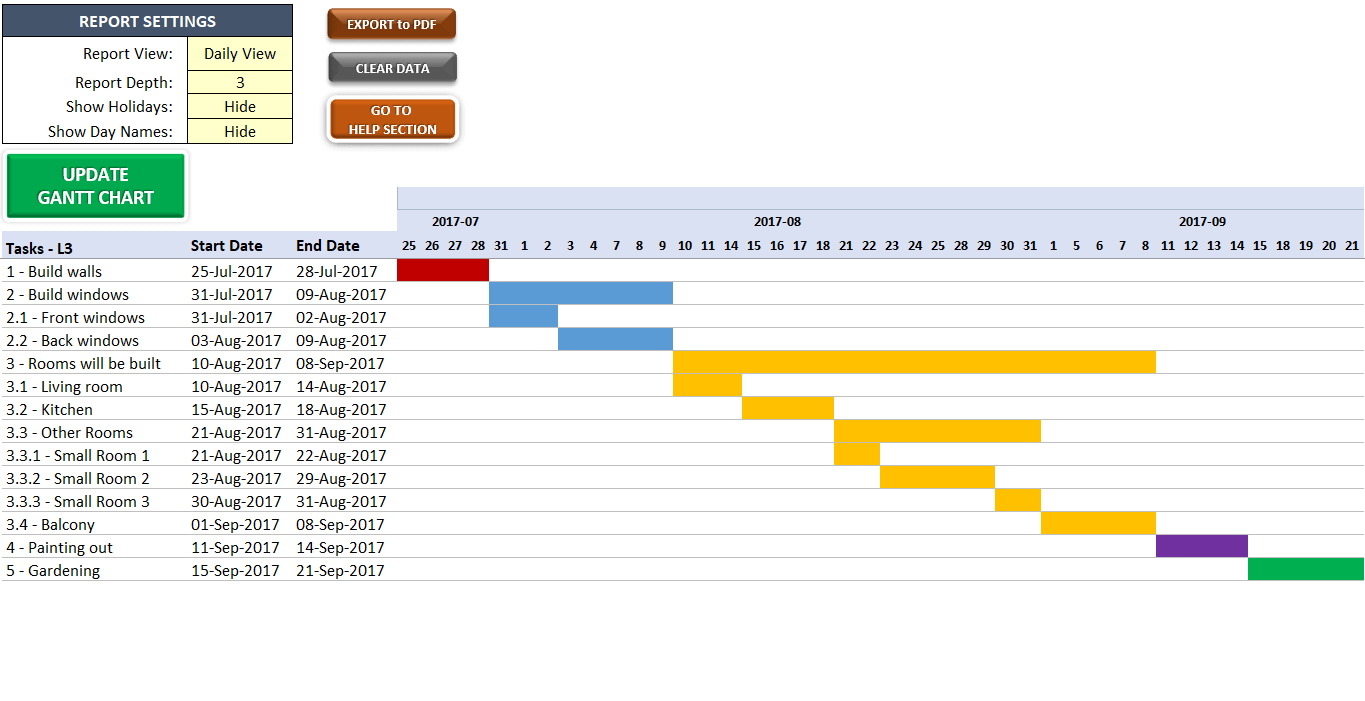 how to make a gantt chart in excel 2011 mac