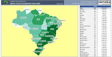 Brazil Geographic Heat Map Generator