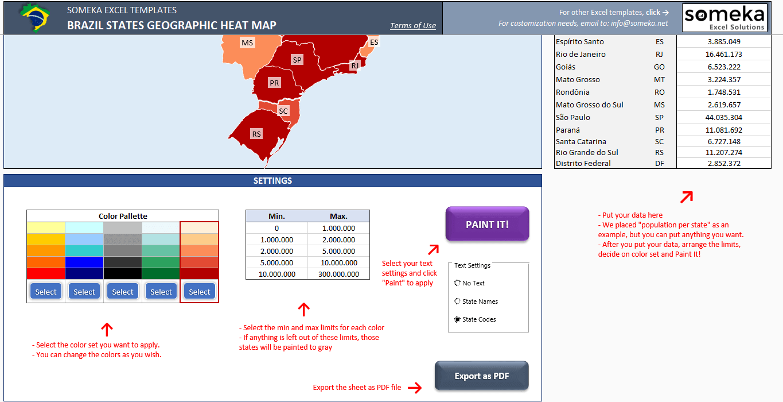 Nett Heat Map Template Excel Zeitgenössisch - Beispiel ...
