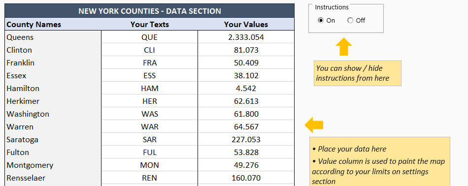 NewYork-Counties-Data-Section- Excel Template - Someka 6