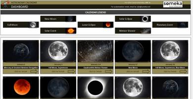 Astronomy Calendar Excel Template - Someka SS1