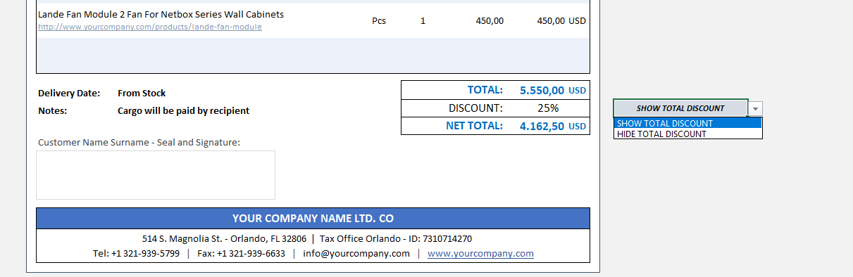 Excel Commercial Invoice Template - Someka TextSS3